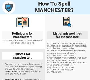 manchester, spellcheck manchester, how to spell manchester, how do you spell manchester, correct spelling for manchester