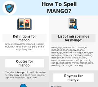 mango, spellcheck mango, how to spell mango, how do you spell mango, correct spelling for mango