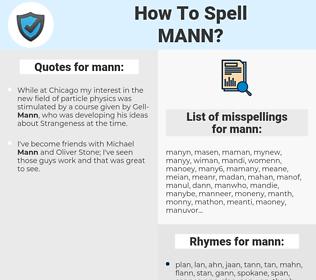 mann, spellcheck mann, how to spell mann, how do you spell mann, correct spelling for mann