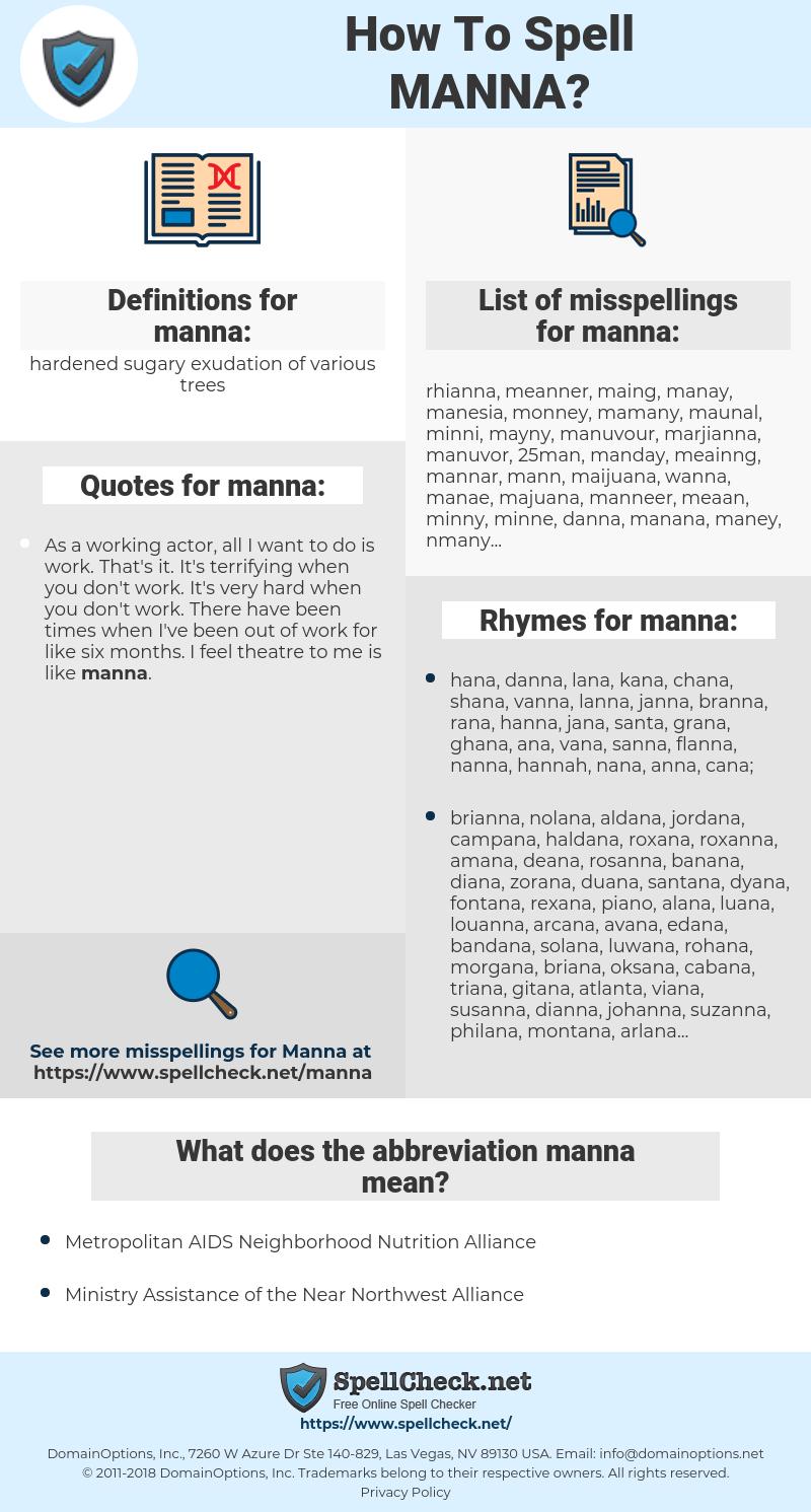 manna, spellcheck manna, how to spell manna, how do you spell manna, correct spelling for manna
