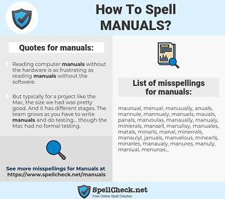 manuals, spellcheck manuals, how to spell manuals, how do you spell manuals, correct spelling for manuals