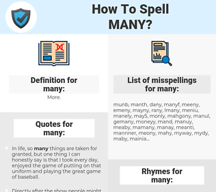 many, spellcheck many, how to spell many, how do you spell many, correct spelling for many