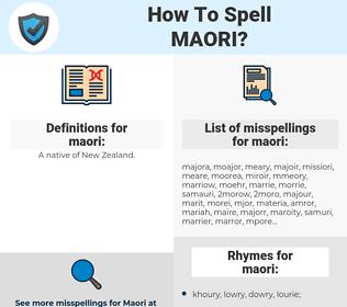 maori, spellcheck maori, how to spell maori, how do you spell maori, correct spelling for maori
