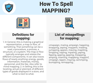 mapping, spellcheck mapping, how to spell mapping, how do you spell mapping, correct spelling for mapping
