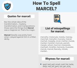 marcel, spellcheck marcel, how to spell marcel, how do you spell marcel, correct spelling for marcel
