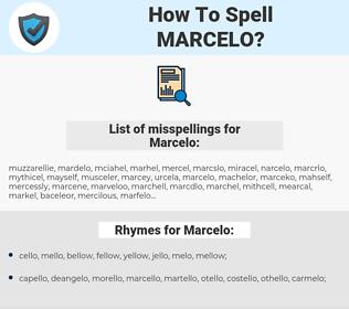 Marcelo, spellcheck Marcelo, how to spell Marcelo, how do you spell Marcelo, correct spelling for Marcelo