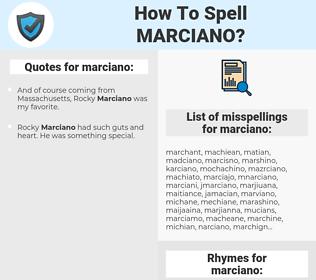 marciano, spellcheck marciano, how to spell marciano, how do you spell marciano, correct spelling for marciano