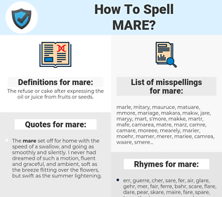 mare, spellcheck mare, how to spell mare, how do you spell mare, correct spelling for mare