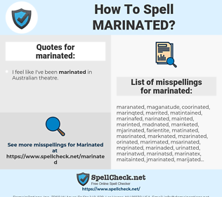 marinated, spellcheck marinated, how to spell marinated, how do you spell marinated, correct spelling for marinated