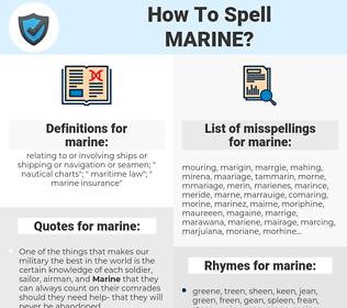 marine, spellcheck marine, how to spell marine, how do you spell marine, correct spelling for marine