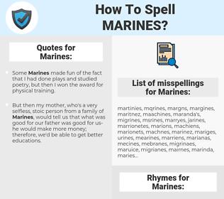 Marines, spellcheck Marines, how to spell Marines, how do you spell Marines, correct spelling for Marines