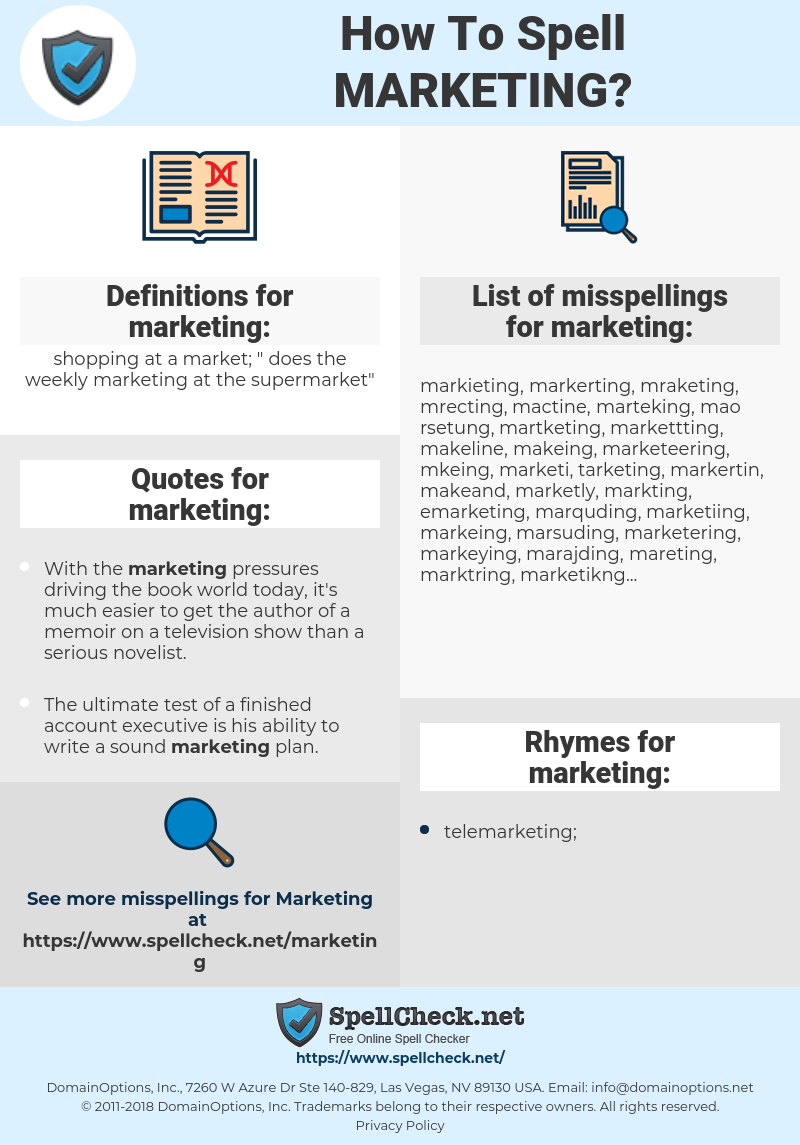 marketing, spellcheck marketing, how to spell marketing, how do you spell marketing, correct spelling for marketing