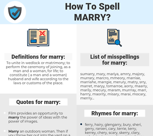 marry, spellcheck marry, how to spell marry, how do you spell marry, correct spelling for marry