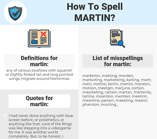 martin, spellcheck martin, how to spell martin, how do you spell martin, correct spelling for martin