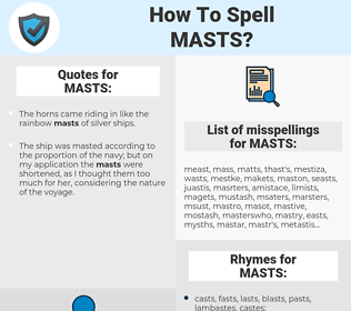 MASTS, spellcheck MASTS, how to spell MASTS, how do you spell MASTS, correct spelling for MASTS