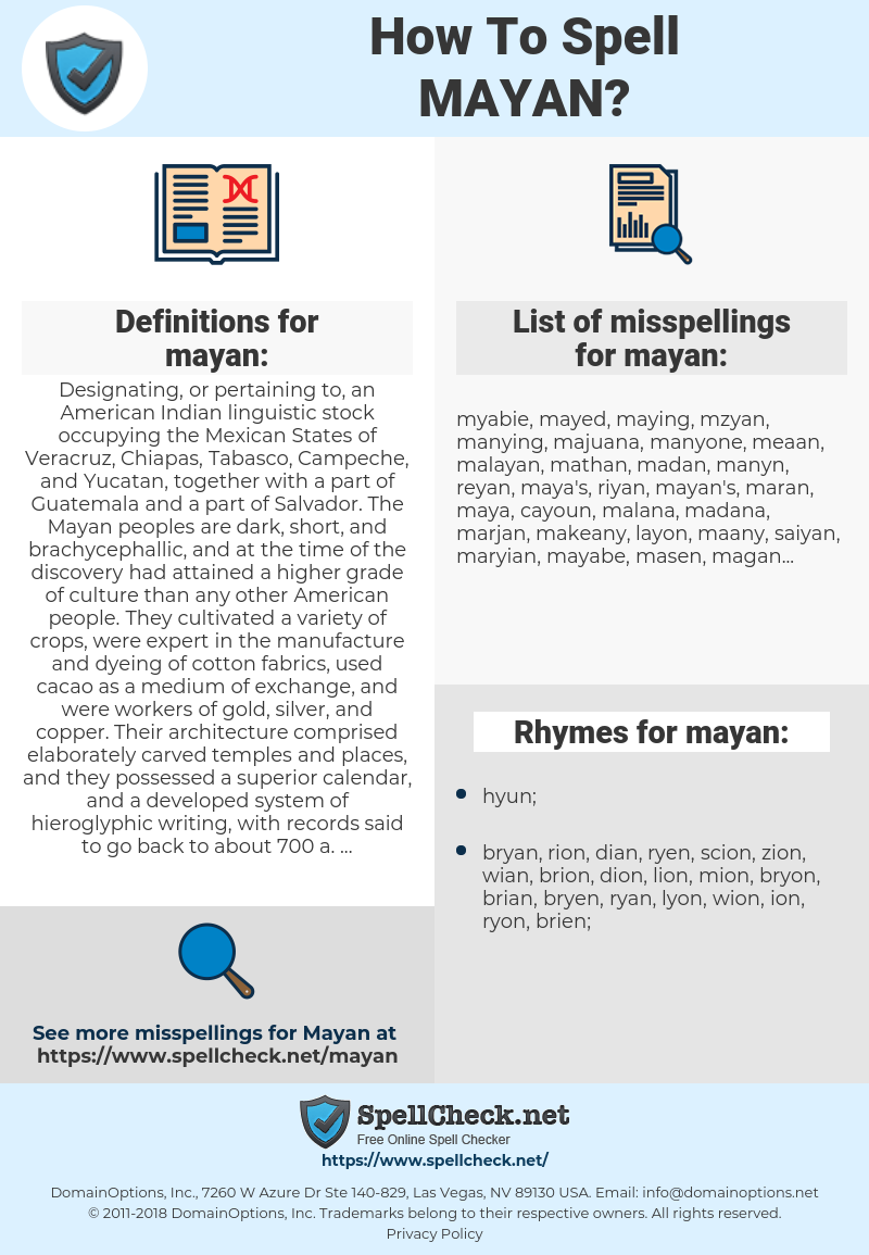 mayan, spellcheck mayan, how to spell mayan, how do you spell mayan, correct spelling for mayan