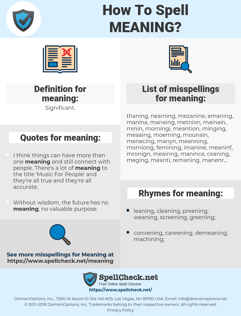 meaning, spellcheck meaning, how to spell meaning, how do you spell meaning, correct spelling for meaning
