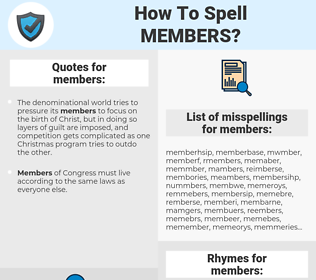 members, spellcheck members, how to spell members, how do you spell members, correct spelling for members