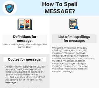 message, spellcheck message, how to spell message, how do you spell message, correct spelling for message