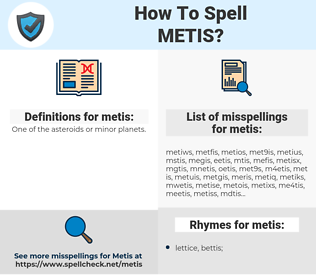 metis, spellcheck metis, how to spell metis, how do you spell metis, correct spelling for metis