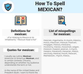 mexican, spellcheck mexican, how to spell mexican, how do you spell mexican, correct spelling for mexican