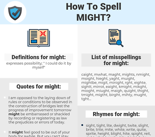 might, spellcheck might, how to spell might, how do you spell might, correct spelling for might
