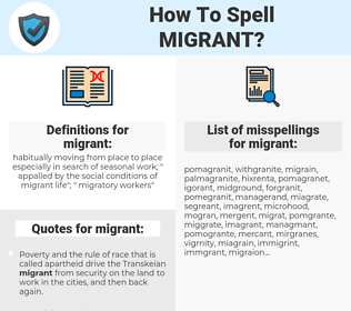 migrant, spellcheck migrant, how to spell migrant, how do you spell migrant, correct spelling for migrant