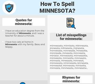 minnesota, spellcheck minnesota, how to spell minnesota, how do you spell minnesota, correct spelling for minnesota