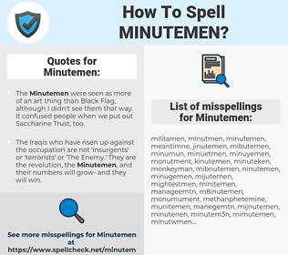 Minutemen, spellcheck Minutemen, how to spell Minutemen, how do you spell Minutemen, correct spelling for Minutemen