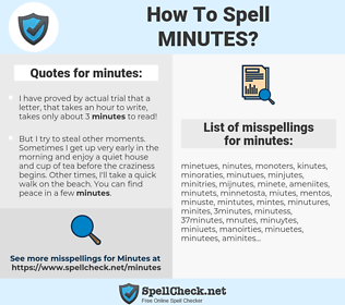 minutes, spellcheck minutes, how to spell minutes, how do you spell minutes, correct spelling for minutes