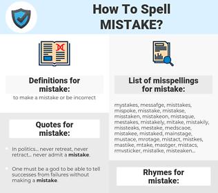 mistake, spellcheck mistake, how to spell mistake, how do you spell mistake, correct spelling for mistake
