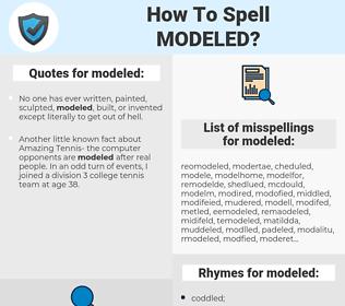 modeled, spellcheck modeled, how to spell modeled, how do you spell modeled, correct spelling for modeled
