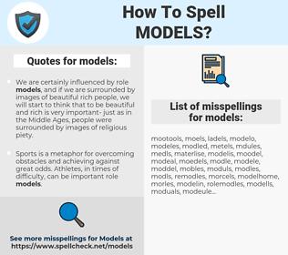 models, spellcheck models, how to spell models, how do you spell models, correct spelling for models