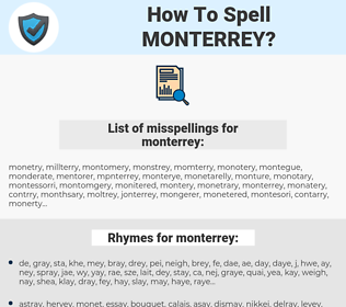 monterrey, spellcheck monterrey, how to spell monterrey, how do you spell monterrey, correct spelling for monterrey