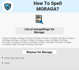 Moraga, spellcheck Moraga, how to spell Moraga, how do you spell Moraga, correct spelling for Moraga