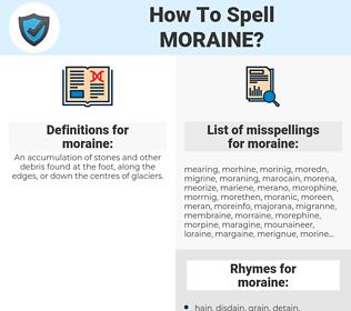 moraine, spellcheck moraine, how to spell moraine, how do you spell moraine, correct spelling for moraine