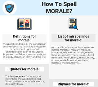 morale, spellcheck morale, how to spell morale, how do you spell morale, correct spelling for morale