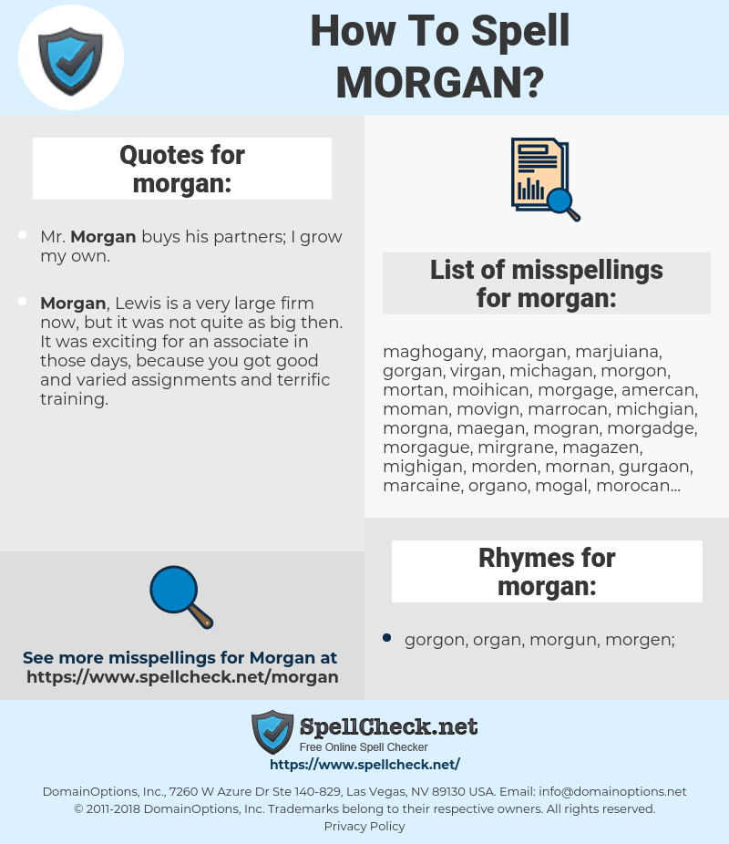 morgan, spellcheck morgan, how to spell morgan, how do you spell morgan, correct spelling for morgan