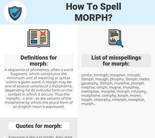 morph, spellcheck morph, how to spell morph, how do you spell morph, correct spelling for morph