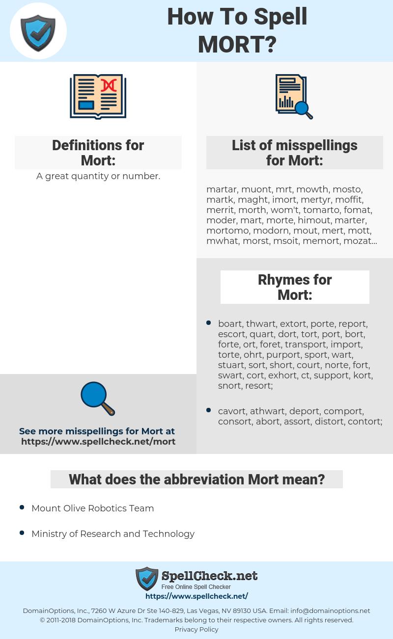 Mort, spellcheck Mort, how to spell Mort, how do you spell Mort, correct spelling for Mort