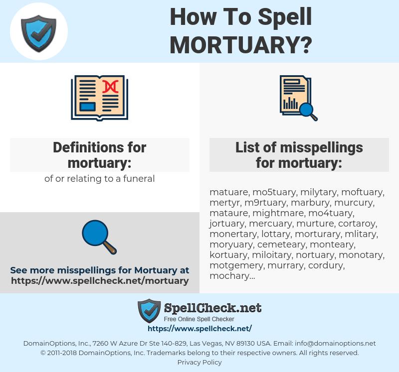 mortuary, spellcheck mortuary, how to spell mortuary, how do you spell mortuary, correct spelling for mortuary
