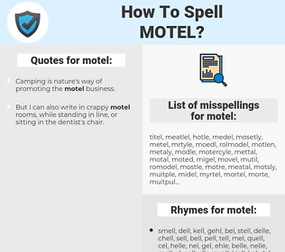 motel, spellcheck motel, how to spell motel, how do you spell motel, correct spelling for motel