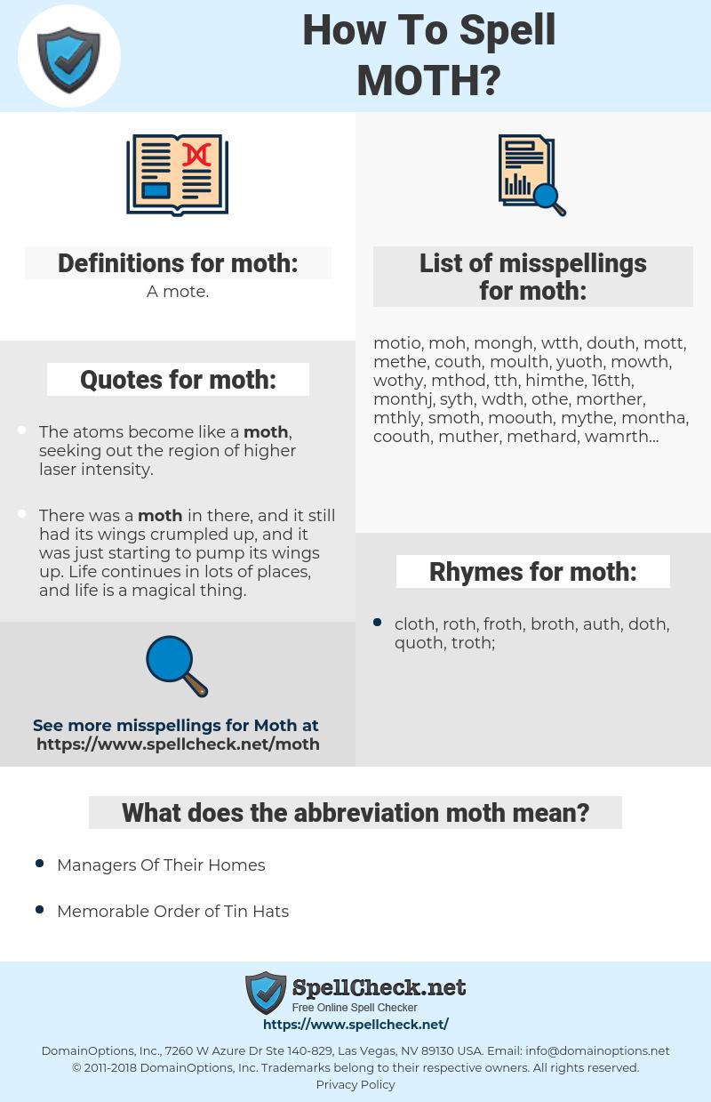 moth, spellcheck moth, how to spell moth, how do you spell moth, correct spelling for moth