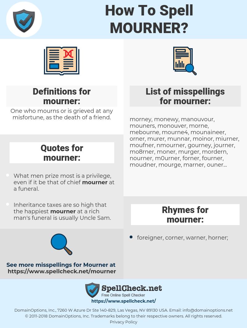 mourner, spellcheck mourner, how to spell mourner, how do you spell mourner, correct spelling for mourner