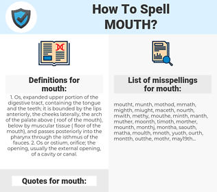 mouth, spellcheck mouth, how to spell mouth, how do you spell mouth, correct spelling for mouth