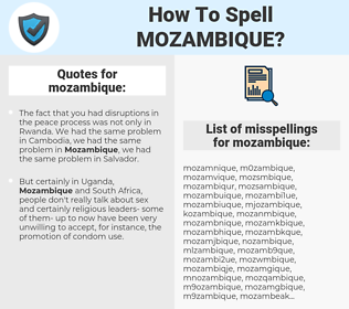 mozambique, spellcheck mozambique, how to spell mozambique, how do you spell mozambique, correct spelling for mozambique
