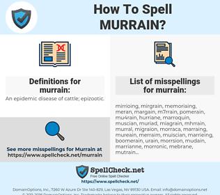 murrain, spellcheck murrain, how to spell murrain, how do you spell murrain, correct spelling for murrain