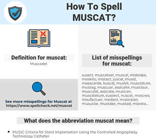 muscat, spellcheck muscat, how to spell muscat, how do you spell muscat, correct spelling for muscat
