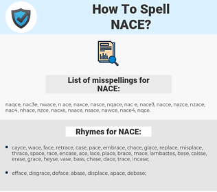NACE, spellcheck NACE, how to spell NACE, how do you spell NACE, correct spelling for NACE