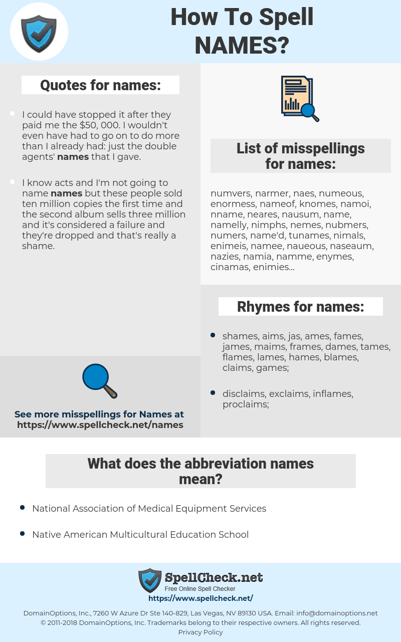 names, spellcheck names, how to spell names, how do you spell names, correct spelling for names